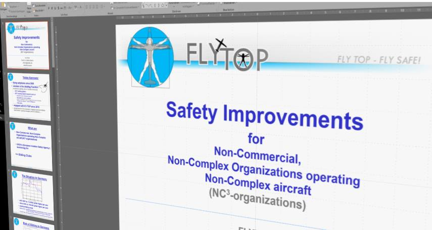 Safety Improvements  for Non-Commercial,  Non-Complex Organizations operating  Non-Complex aircraft  - 2017 | Tobias Kemmerer